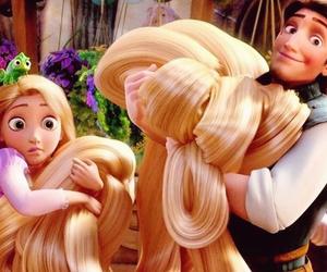 tangled, disney, and hair image