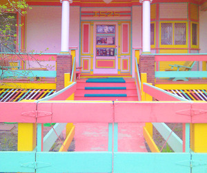 house, pastel, and colorful image