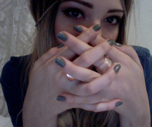 girl, nails, and grunge image