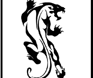 panther and tattoo design image