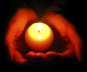 candle, hand, and dead image