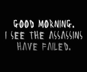 assassin, quotes, and fail image