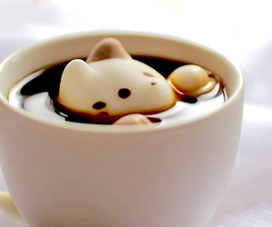 marshmallow, cat, and coffee image
