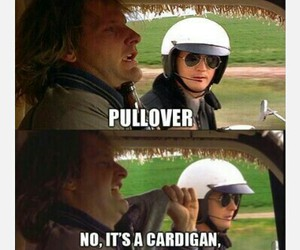 funny, police, and pullover image
