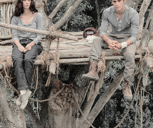 thomas, the maze runner, and teresa image