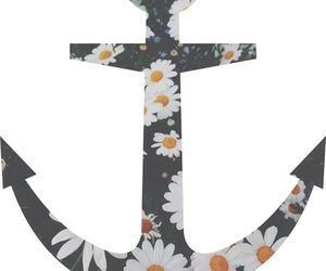 anchor, flowers, and hipster image