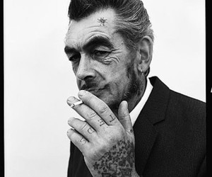 hand tattoo, old man, and suit image