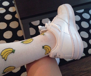 fashion, nike, and banana image