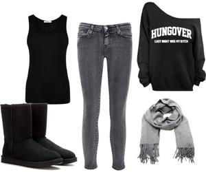 black, fashion, and hungover image