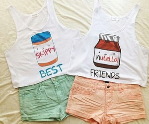 besties, fashions, and nutella image