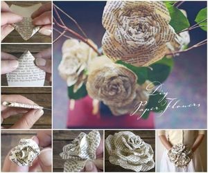 bouquet, crafts, and paper rose image