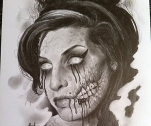 Amy Winehouse, art, and drawing image