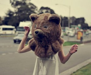 bear, girl, and funny image