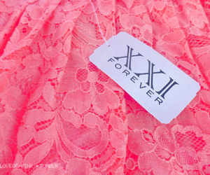 forever 21, lace, and pink image