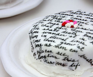 cake, valentines, and words image