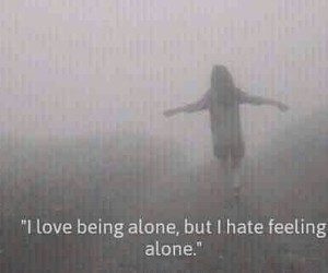 alone, backround, and being image