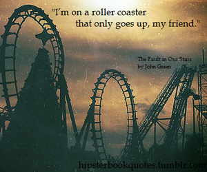 quote, Roller Coaster, and book image
