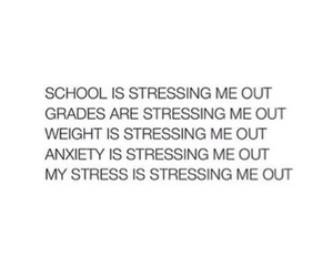 stress, school, and quote image