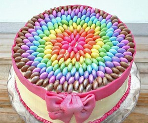 cake, colorful, and yummy image