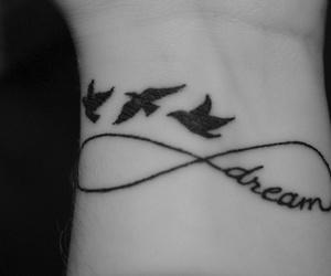 Dream, tattoo, and bird image