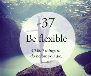 flexible and bucket list image