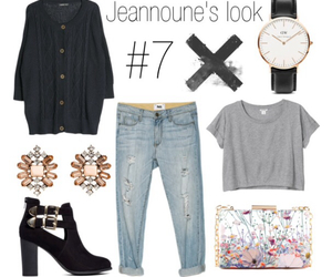 boyfriend jeans, fashion, and look image