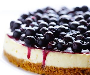 food, cheesecake, and blueberry image