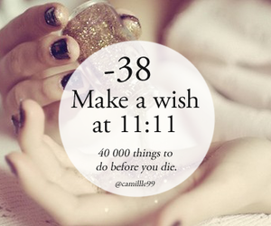 wish, 11:11, and make a wish image