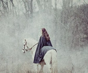 horse, girl, and fantasy image