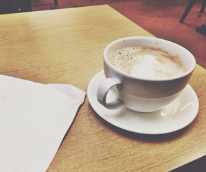 autumn, hot drinks, and cappachino image