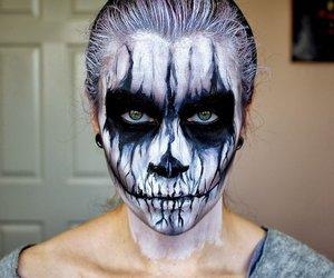 body painting, make up, and vampire image