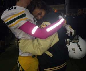 boyfriend, helmet, and hug image