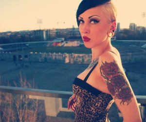 hair, piercing, and Hot image