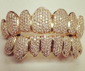 gold, grill, and diamonds image