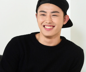 hat, smile, and black style image