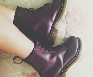 girl, boots, and dr martens image