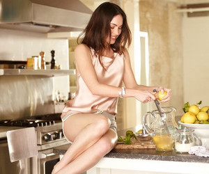 beauty, brunette, and kitchen image