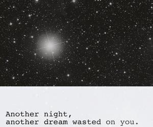 black and white, galaxy, and Lyrics image