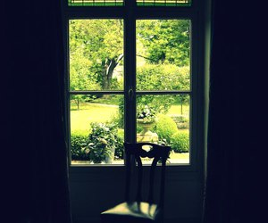 chair, france, and window image