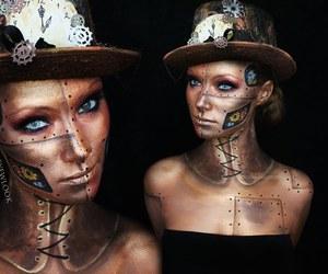 costume, Halloween, and make up image