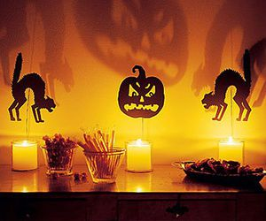 candle, cat, and decoration image