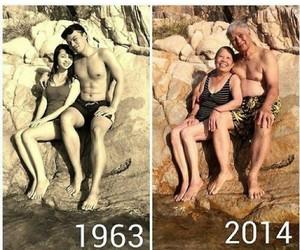 couple, grunge, and sea image