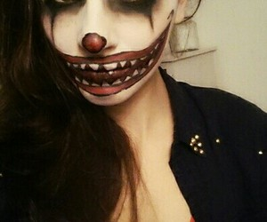 Halloween, scary, and scary clown image