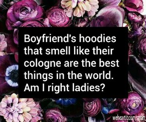 boyfriend, cologne, and flowers image