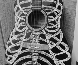 guitar, music, and skeleton image