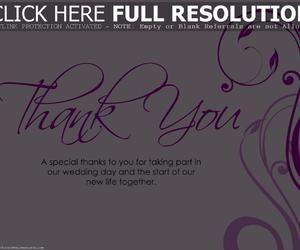 thank you card and wedding card image