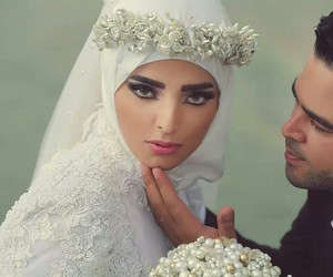 bride, eyes, and hijab image