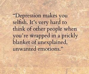 depression and text image
