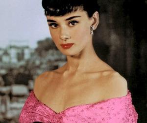 audrey hepburn, beautiful, and pink image