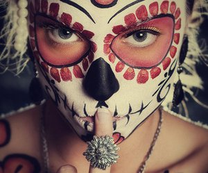 Halloween, skull, and sugar skull image